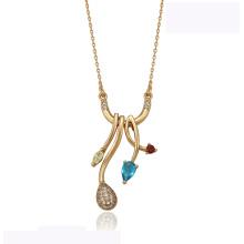 41939 оптовые xuping элегантное ожерелье из 18-каратного золота с бриллиантами моды красивое ожерелье