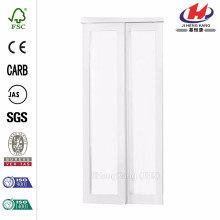 72 in. X 80 in. Cadre miroir Euroframe blanc pour porte coulissante