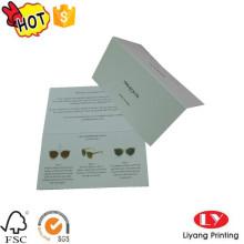 Impresión de tarjetas de productos de papel