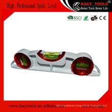 High Accuracy Aluminum Casting Bridge Level with 3 Vials for scaffold use