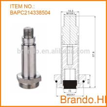Válvula solenoide de agua de acero inoxidable normalmente cerrada y émbolo para válvula de solenoide de drenaje automático