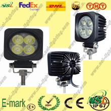 Lampe de travail à LED 12W, Lampe de travail à LED 12V DC, Lampe de travail à LED 6000k pour camions.