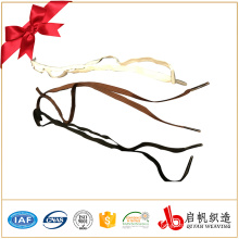 Custom color flat elastic woven shoe laces