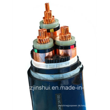 Henan Jinshui Gruppe MV Electric 3 Core XLPE Armored Power Kabel