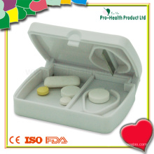 Plastic Tablet Pill Cutter With Pill Box