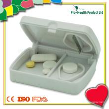 Cortador de comprimidos de tableta de plástico com caixa de comprimidos