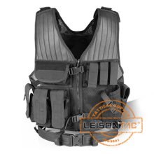 Tactical Vest com Holster SGS Padrão Leisontac Tactical Gear