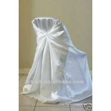 self-tie back chair cover,CT453 satin chair cover,universal chair cover