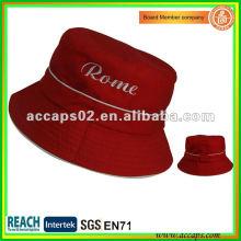 Nuevo Estilo Rojo Short Brim Bucket Sombreros BH0004