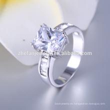 Anillo falso de plata de la joyería del diamante Anillo vendedor caliente de la imitación del diseño 2016