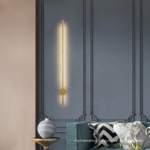 Popular modern factory golden LED indoor wall lights bedroom metal wall lamp