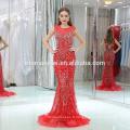 Long Tail Patterns robe de soirée taille haute 2017 robe de soirée rouge à long porn