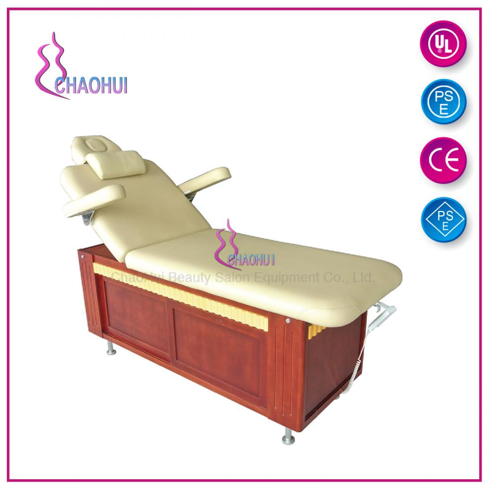 Kecantikan Wooden Electric Massage Facial Bed