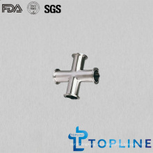 Cruz de acero inoxidable sanitaria con tri Clamp Ends