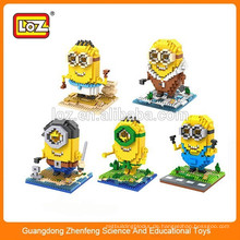 Pädagogisches Spielzeug DIY Spielzeug Plastikmaterial loz Spielzeugblock Minions
