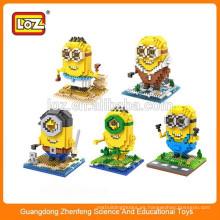 Juguete educativo juguete DIY juguete de juguete de plástico material juguete Minions