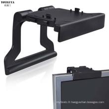 Mini support d'agrafe de TV d'appareil-photo pour le support de support de jeux vidéo de Xbox 360 Kinect avec la boîte-cadeau au détail