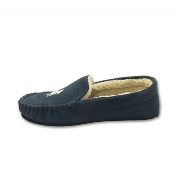 Mens loafer navy ankle house shoes indoor slippers
