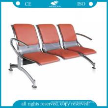 AG-TWC003 tres asientos sillas de sala de espera de hospital de metal público antiguo