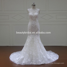 XF16072 Redondo decote vestido de casamento vestido de noiva de sereia 2017