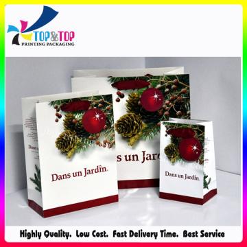 Promoção Gift Set Sacos de compras de papel Holiday Gift Paper Bags