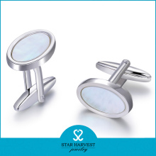 2015 Hot Selling Silver Crystal Cufflinks for Man (D-0358)