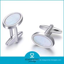 2015 heißer Verkauf Silber Kristall Manschettenknöpfe für Mann (D-0358)