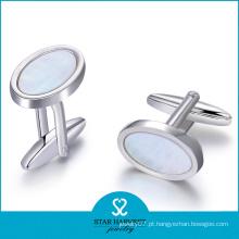 2015 abotoaduras de cristal de prata de venda quente para o homem (D-0358)
