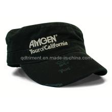 Mode Schleifen gewaschen Metallic Thread Stickerei Sport Military Cap (TRM016)