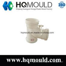 De boa qualidade Modelagem por injeção plástica do encaixe de tubulação do T para o sistema de dreno