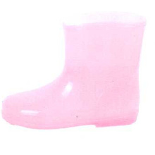 Baby's Pink Lovely Pvc Injection Boots