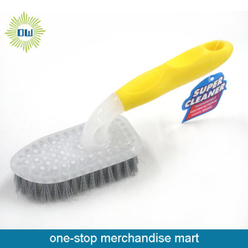 Plastic floor cleaning brush