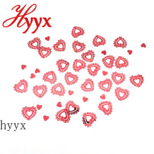 HYYX 2018 fashion heart shape 30mm flat sequins factory types in large bulk loose sequins decorative sequins designs