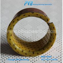 POM Plain Bearing Flanged Steel Polymer Bushing Flanged Composite Bearing