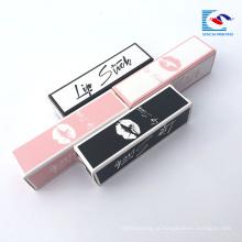 caixas de embalagem de design personalizado brilho labial private label
