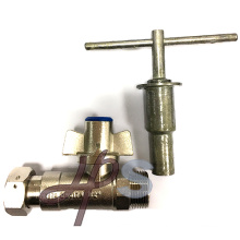 1/2''-1'' CW617N Brass Magnetic Lockable Ball Valve