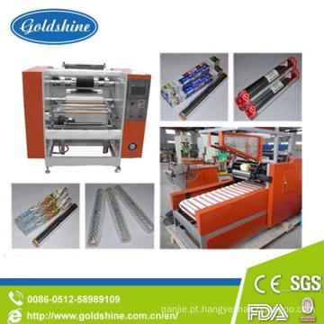 Máquina do rebobinamento da folha de alumínio para o rolo da folha de alumínio do agregado familiar