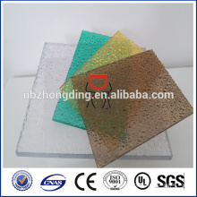 colored polycarbonate embossed sheet polycarbonate roofing