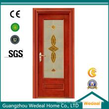 Puerta de madera interior de compuesto de madera maciza de PVC / madera maciza