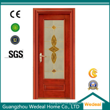Solid Wooden Fiberglass French Style Wooden Door
