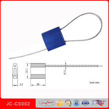 Tire de sello de cable de seguridad de aluminio apilable Jccs002