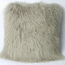 Taie d'oreiller en fourrure d'agneau tibet de conception unique