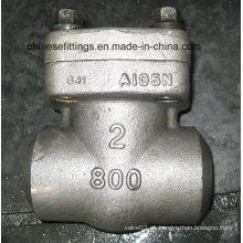 Válvula de retención sin retorno de rosca hembra forzada de ANSI de 800 libras