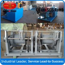 Treuil adapté aux besoins du client de pêche au chalut de double de tambour de 3ton avec la station hydraulique