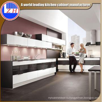 Новая глянцевая индивидуальная модульная деревянная кухонная мебель для шкафа (с отделкой UV)