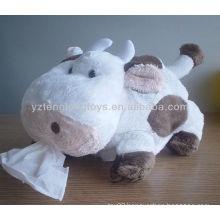 Children stuffed cow toys soft napkin holder