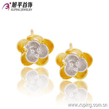 2016 Moda chapado en oro de las mujeres joyería de flor simple Studs Earring - 90307