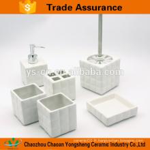 Square magic cube stoneware 5pcs accessoires set de bain pour l'Europe