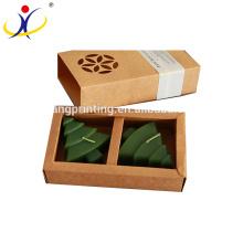Boîtes de bougie en papier kraft brun personnalisé en gros