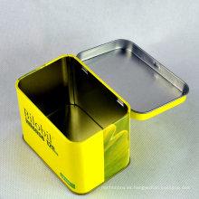 Caja de hojalata para galletas / contenedores de estaño / cajas de metal